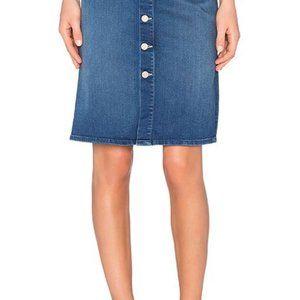 NWT MOTHER high waisted button skirt 28